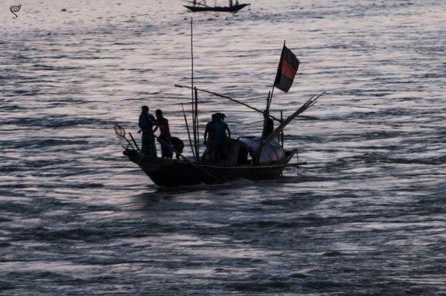 Fishing boats on the Kirtonkhola river