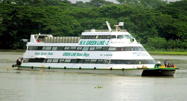 MV Green Line Water Ways Dhaka to Barisal. PC: goo.gl/ZrnTtP