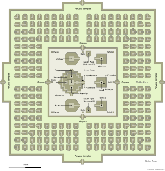 The Layout of Prambanan Temple. PC: https://en.wikipedia.org/wiki/Prambanan