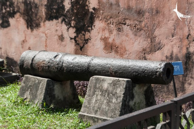 A canon from the Mughal era in Lalbagh Fort