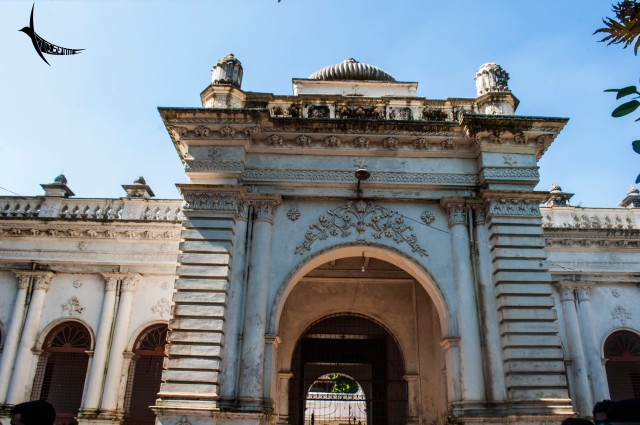 Main entrance of the Muktagacha Rajbari