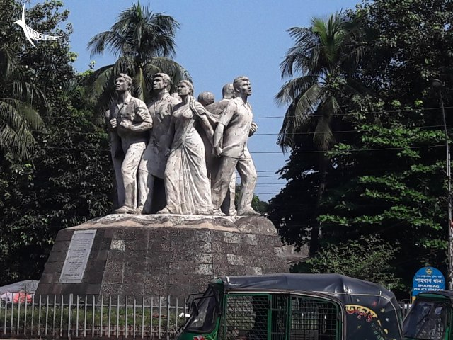 Statue commemorating the freedom struggle of the nation