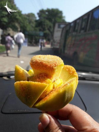 This fruity flower is sold by the vendors and is a popular snack
