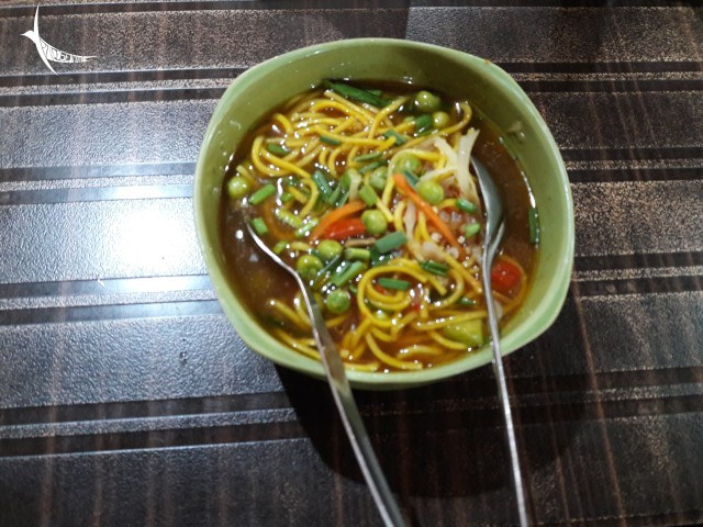 The local dish Thukpa