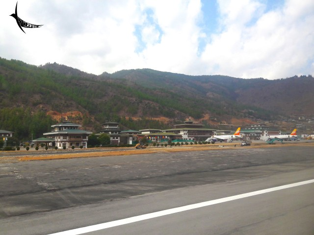 The little Paro International Airport