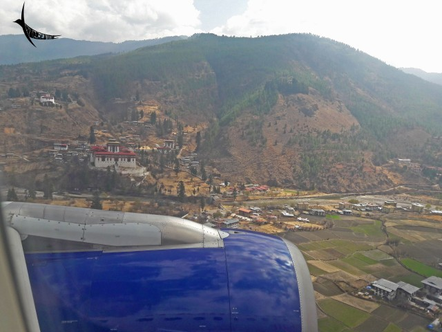 The Paro Dzong so near