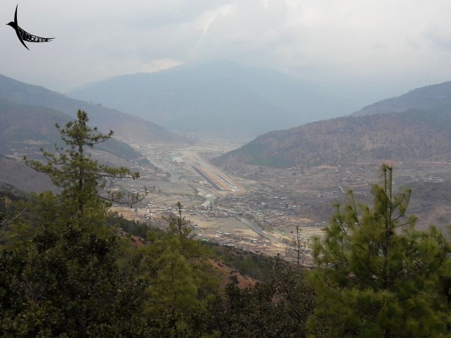 The tiny airstrip within the Paro Valley