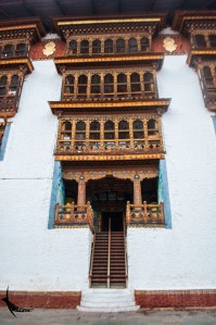 In the second courtyard of Punakha Dzong