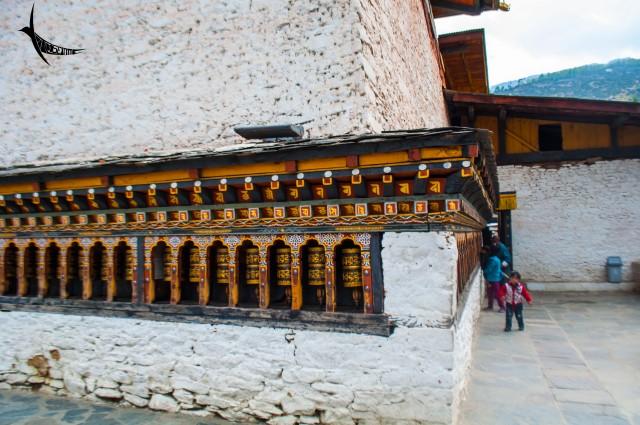 Prayer wheels in Changangkha Lhakhang