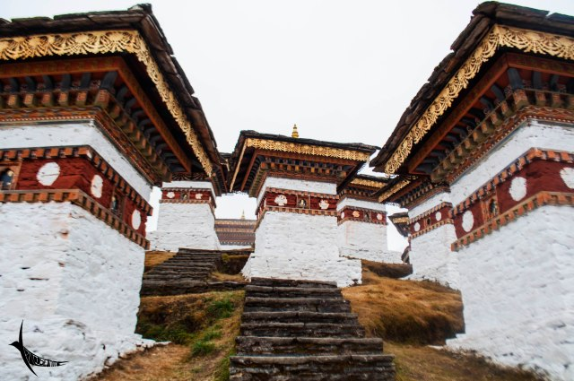 Stupas of the 108 memorial chorten in Dochula Pass