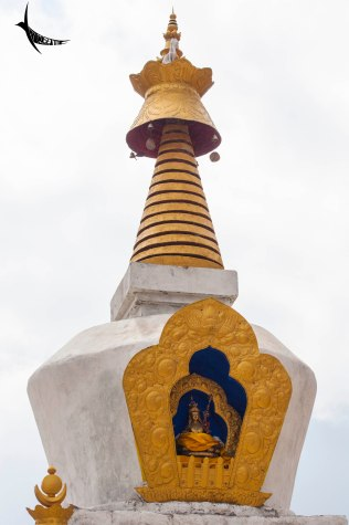 The top of the stupa
