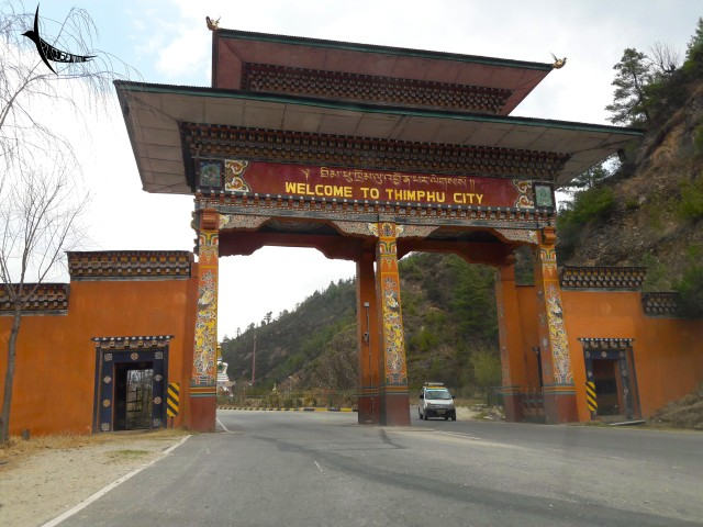 Welcome to Thimphu - On the way from Paro to Thimphu