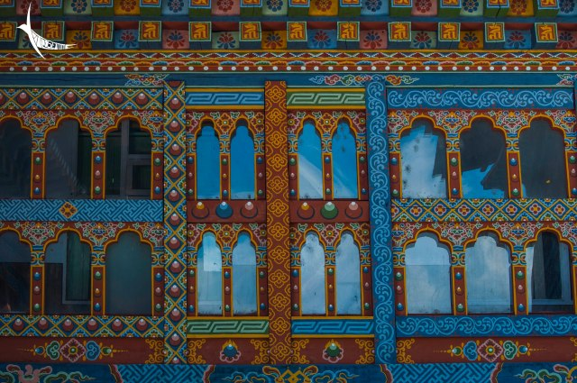 Beautifully Painted windows of Haa Dzong