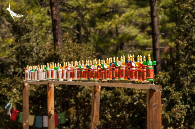 The plastic bottle prayer wheels which rotate on the mildest of wind