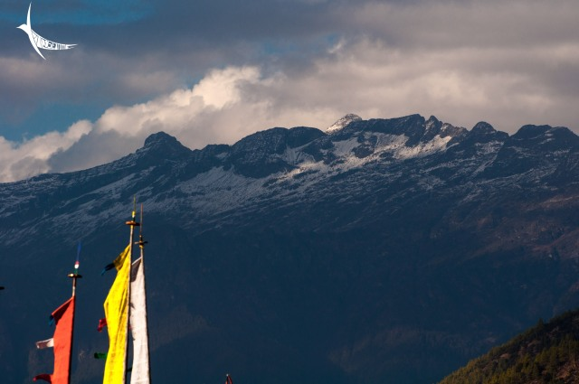 The view of the mighty Himalayan ranges