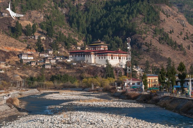 The Paro Dzong by the river