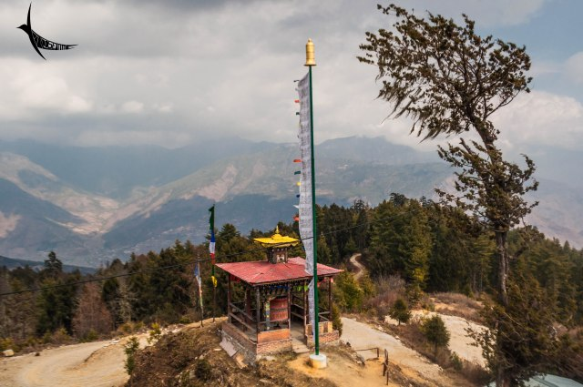The large prayer wheel near the Lhakhang