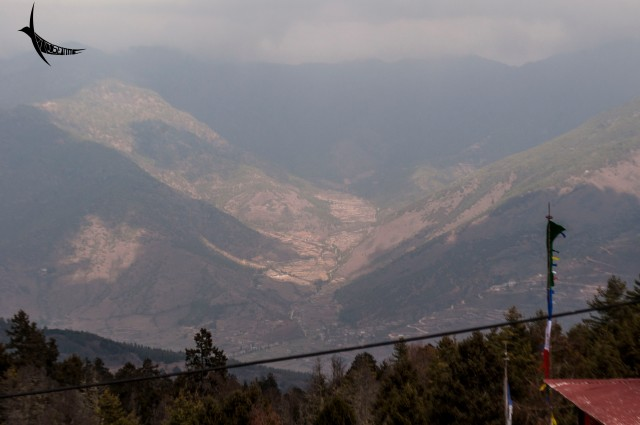 The view from the Lhakhang