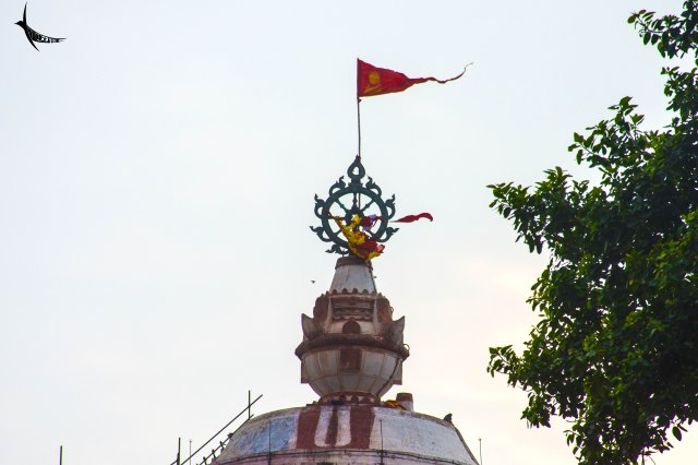 The flag of the Jagannath temple