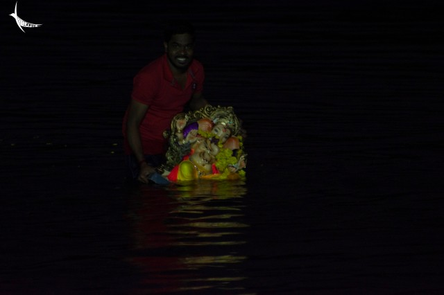 Ganpati goes to his heavenly abode