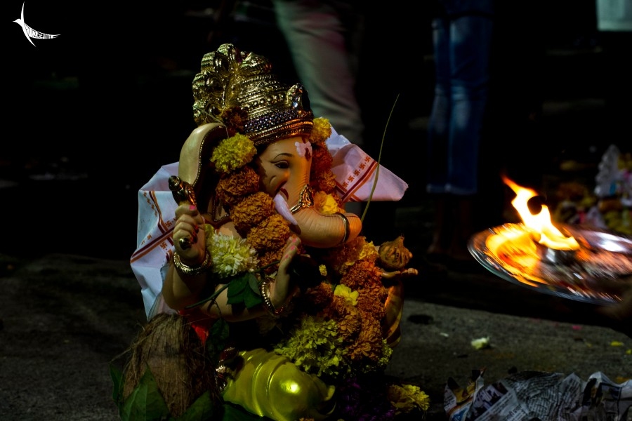 Final aarti before the Visarjan