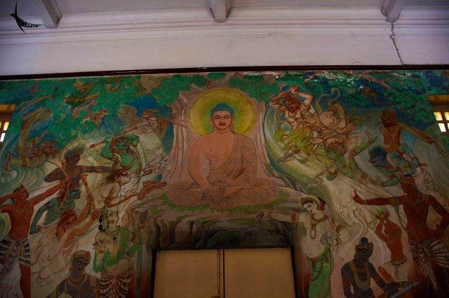 Fresco in the Mulagandhakuti Temple