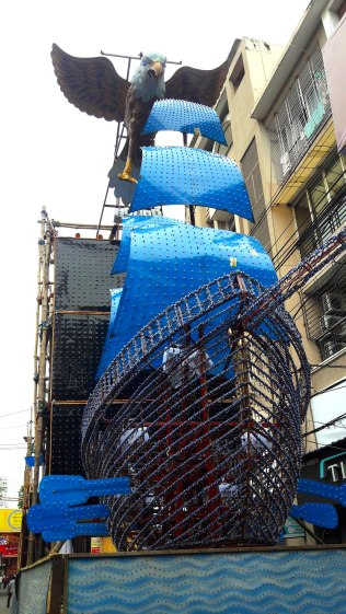 The ship is set to sail of the roads this Durga Puja