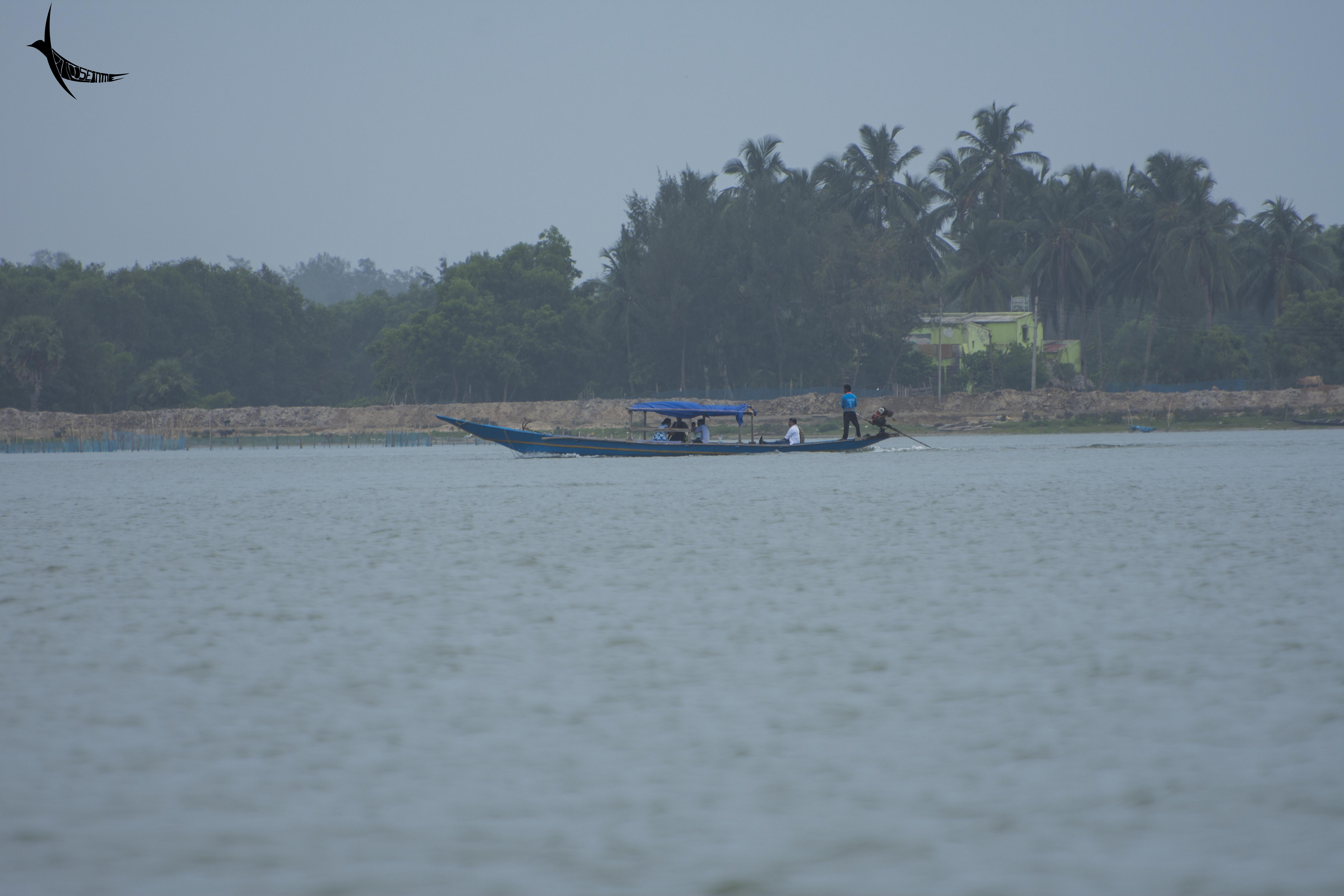 Visitors on boat trip