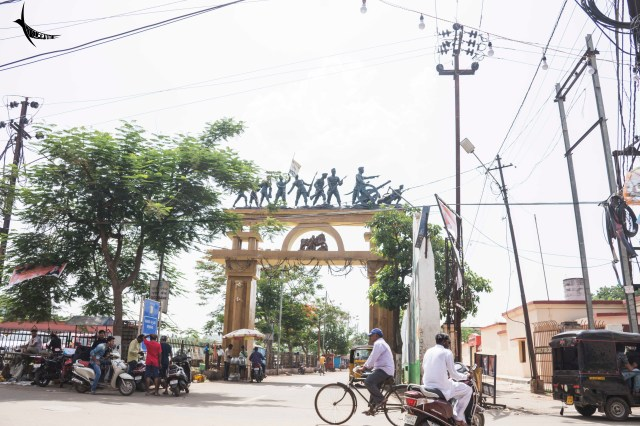 The toran or the gate leading to Netaji Museum