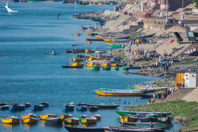 The ghats and the boats