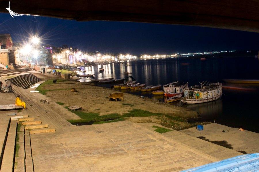 The Ghats of Varanasi at night