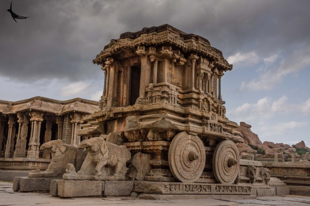 The iconic stone chariot of Vitthala temple