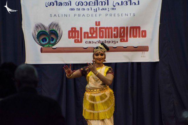 The daily evening cultural programme in the temple stage