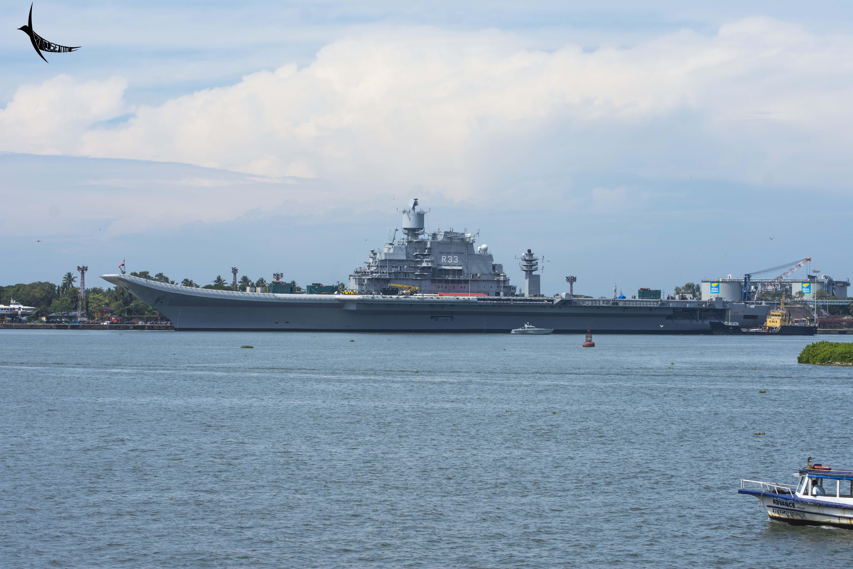 An aircraft carrier