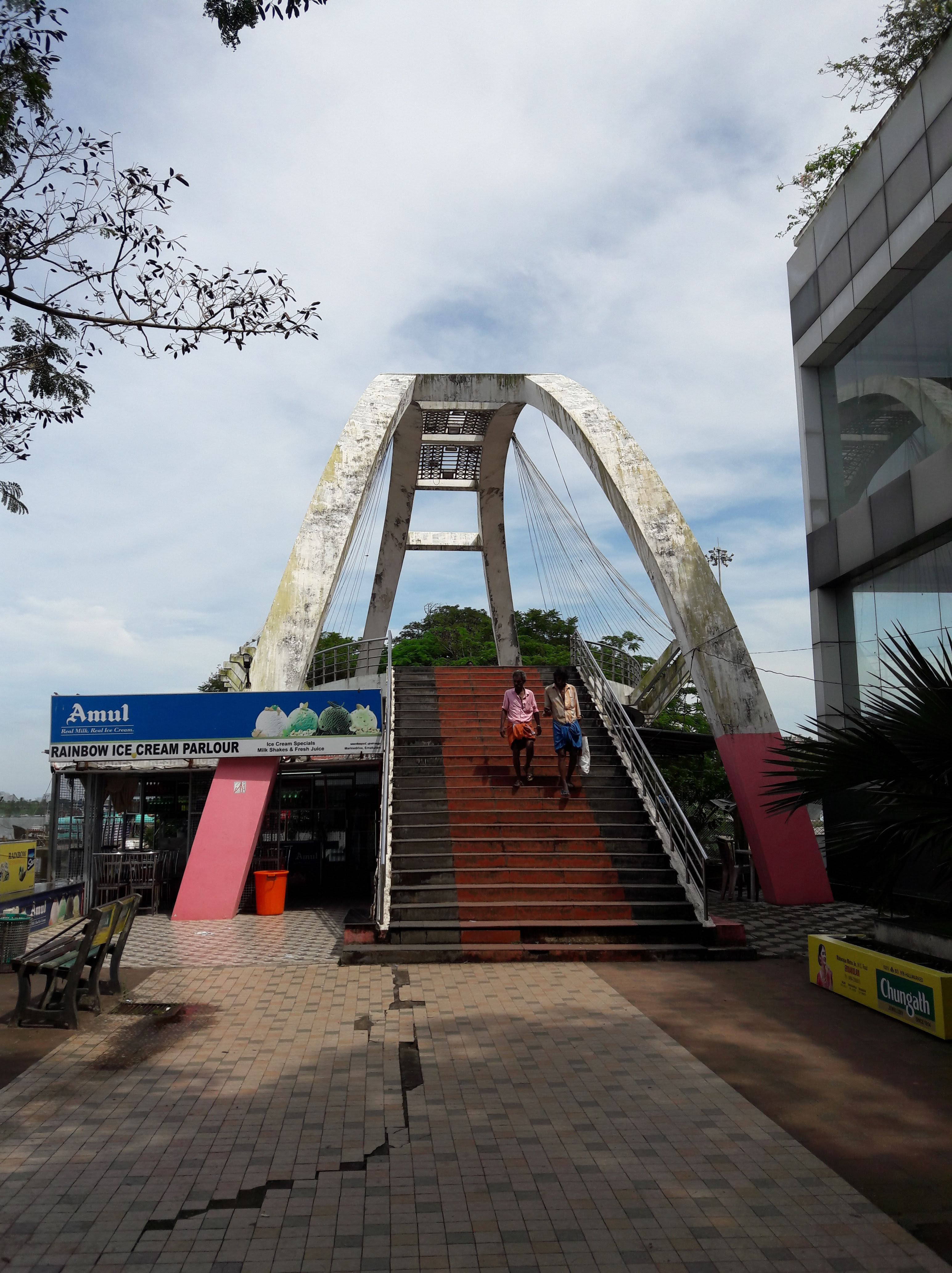 The Rainbow bridge in Marine drive