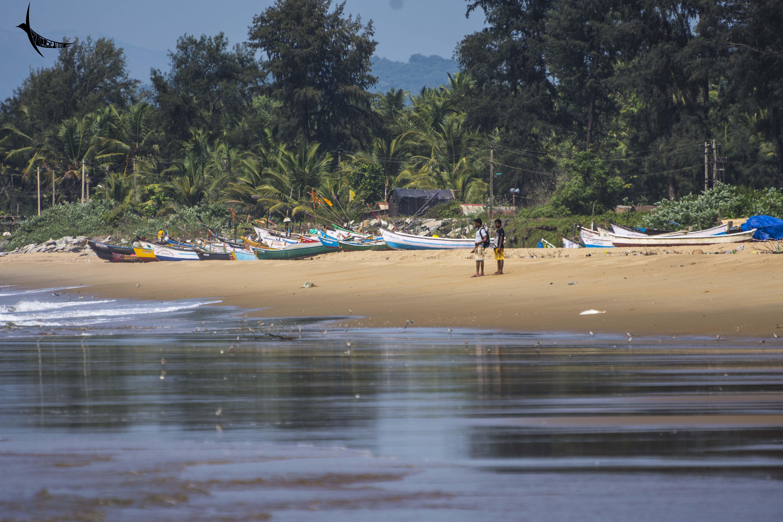 Fishermen village ahead of Devbagh beach