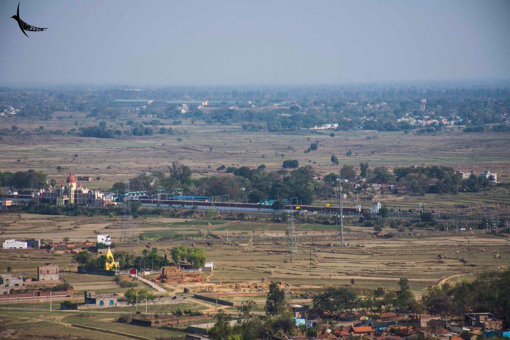 The Jaichandi Railway station on the left
