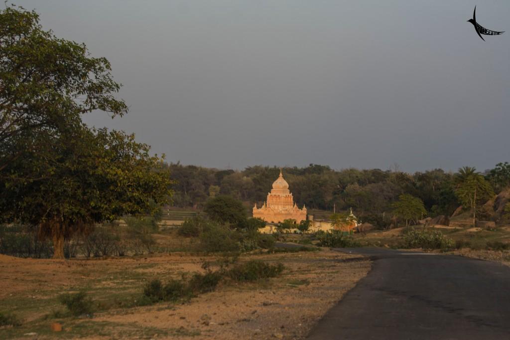 The recent temple near Bero Hill