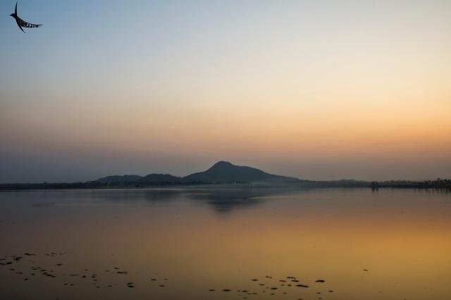 The calm waters of the Baranti lake