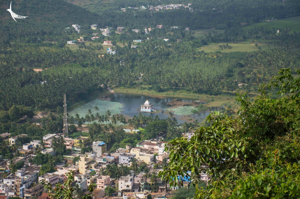 An aerial view on the way to Simhachalam temple