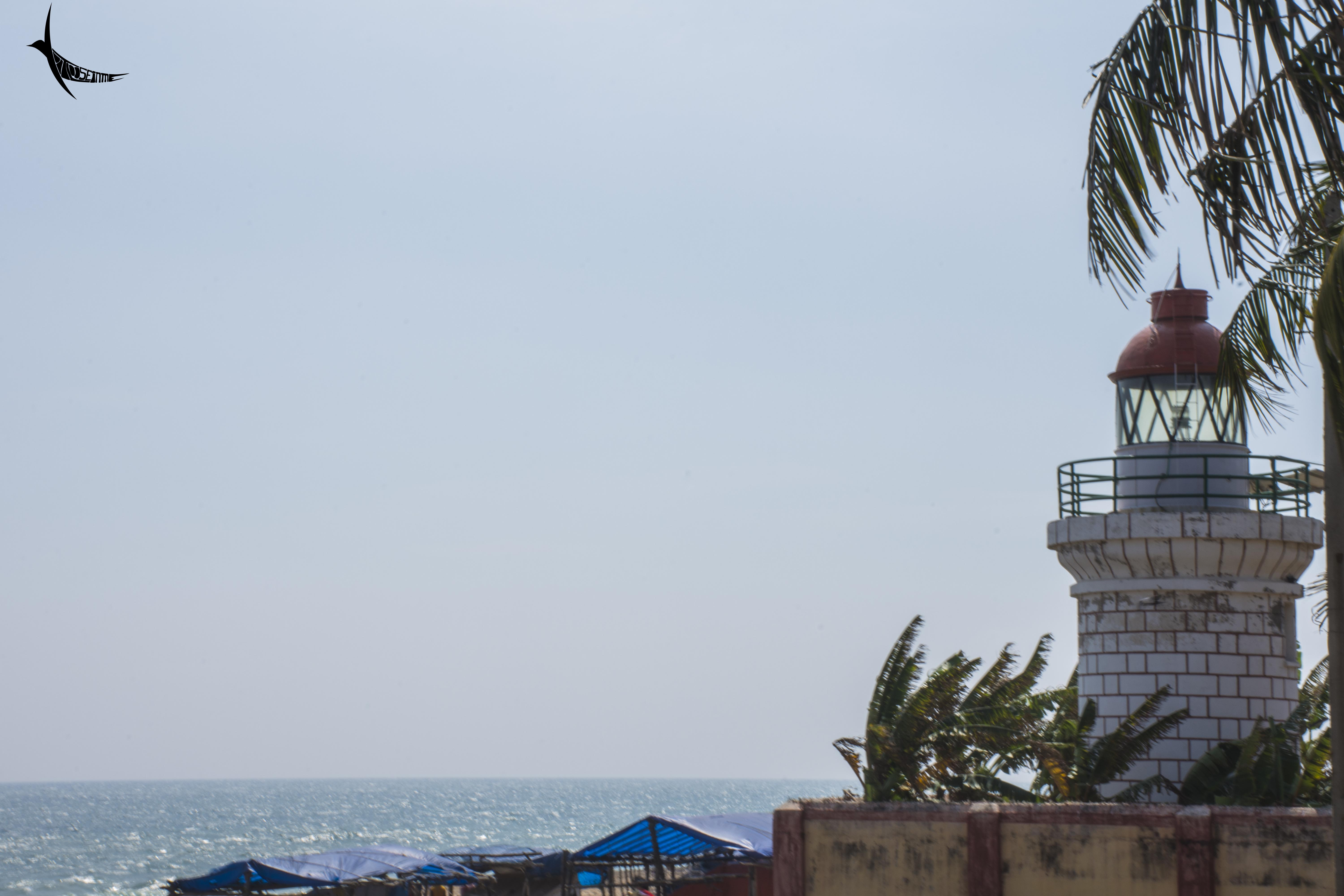 The small lighthouse in Bheemili beach