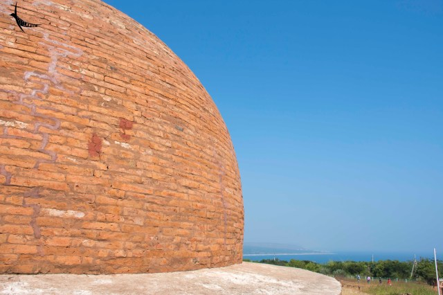Stupa in Thotlakonda with the view of the sea