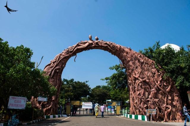 The entrance of the Kailasagiri park