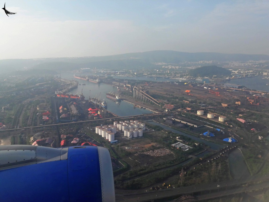 The view of the port from the flight