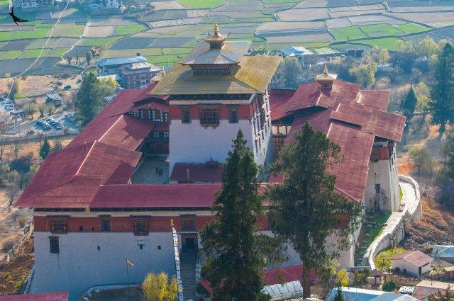 Top view of the Paro Dzong