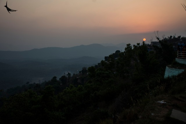 Sunset from Raja's seat in Madikeri