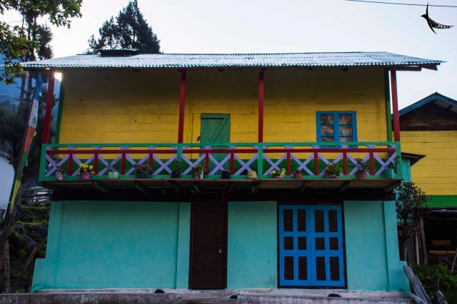 A colourful house in Lachung