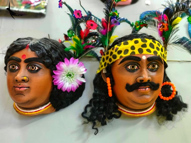 Masks of a tribal couple