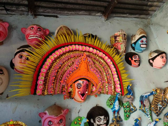 Babu mask of Lord Ganesha in the centre