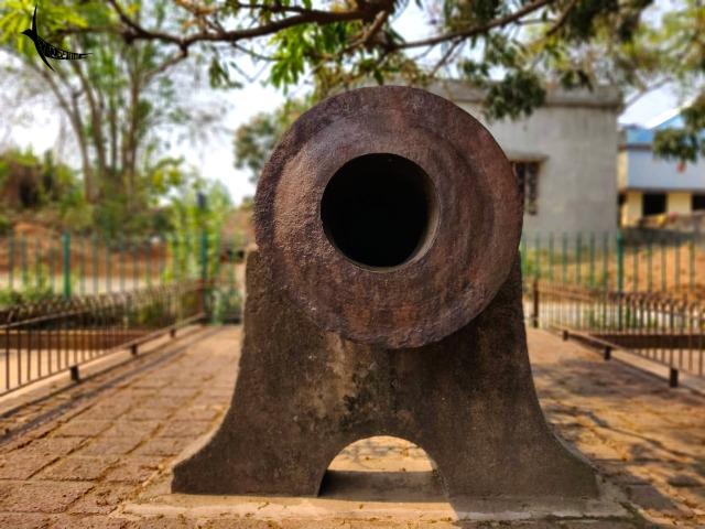 Dalmadal - The wrought iron cannon, the largest cannon manufactured by the Malla kings used in the regime of king Gopal Singh against the Maratha attack